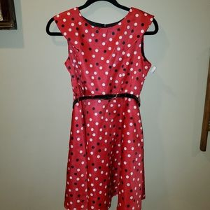 Girls Red with Polka Dot Dress. Minnie Mouse